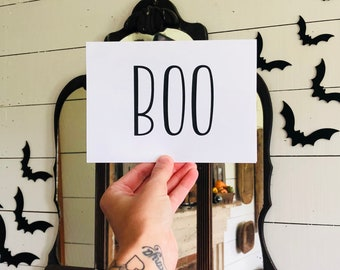 BOO Card | Simple Halloween Card | Farmhouse Halloween | Greeting Card | Halloween Card
