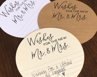 Wishes for the new Mr and Mrs cards | Advice Cards | Bridal Shower Advice Cards | Advice for the couple cards