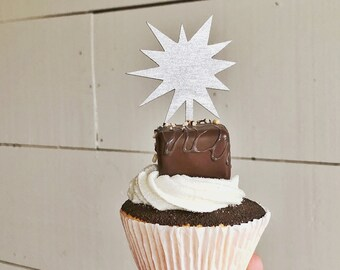 Sparkler Cupcake Topper | July 4th Party | Labor Day Party | Memorial Day Party | Cupcake Topper | Sparkler
