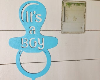 It's A Boy Cake Topper | Baby Shower Cake Topper | wood cake topper | Free Shipping