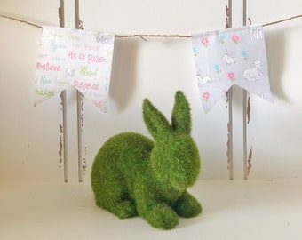 Easter Banner | Farmhouse Easter | Bunny Banner | Farmhouse Decor | Fabric Easter Banner | Easter Decor