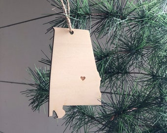 Alabama Ornament | Christmas Ornament | State Ornament | Alabama