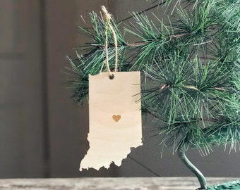 Indiana Ornament | Christmas Ornament | Indiana State | State Ornament