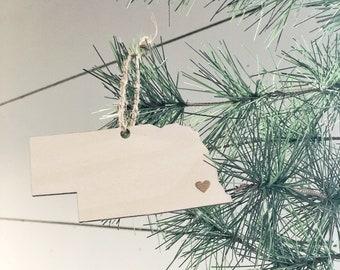 Nebraska Ornament | Christmas Ornament | Nebraska State | State Ornament