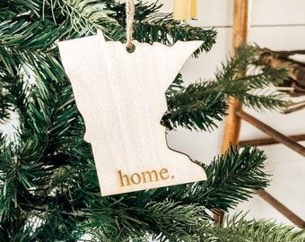 Minnesota Home Ornament | Christmas Ornament | Minnesota State | State Ornament
