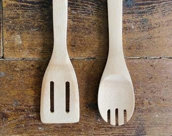 22 Wood Cooking Utensil Blanks | Laser Blanks | Wood Spatula | Wood Spork | Bamboo Cooking Utensils