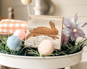 Easter Decor | Barn Wood Easter Sign | Easter Tiered Tray Decor | Easter Bunny Sign | Farmhouse Easter Decor