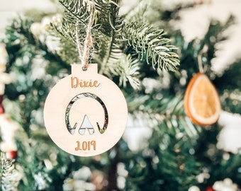 Horse Ornament | Horse Hoof Ornament | Christmas Ornament | Farmhouse Ornament