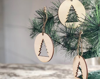Christmas Tree Ornament | DIY Christmas Tree Ornament | Christmas Tree Cutout | Ornament
