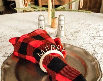 Christmas Napkin Rings | Christmas Table Setting | Christmas Decor | Farmhouse Christmas