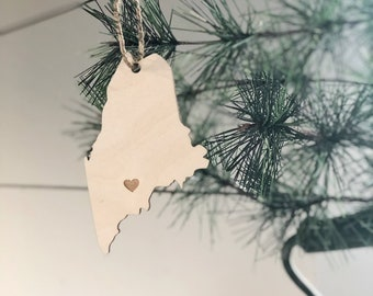 Maine Ornament | Christmas Ornament | Maine State | State Ornament
