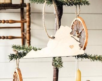 Virginia Ornament | Wood Ornament | Virginia State | State Ornament