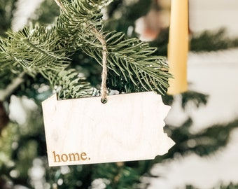 Pennsylvania Home Ornament | Wood Ornament | Pennsylvania State | State Ornament