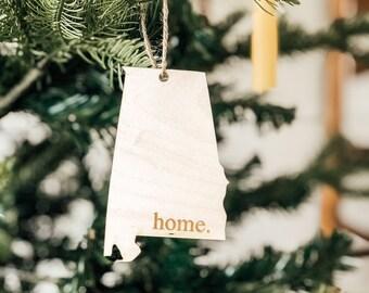 Alabama Home Ornament | Christmas Ornament | State Ornament | Alabama