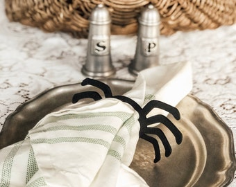 Spider Napkin Rings | Halloween Table Setting | Halloween Decor | Farmhouse Halloween