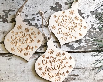 Our First Christmas As Mr and Mrs Ornament | Our 1st Christmas Ornament 2019 | Mrs and Mrs Ornament | Mr and Mr Ornament