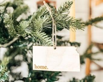 Kansas Home Ornament | Christmas Ornament | Kansas  State | State Ornament