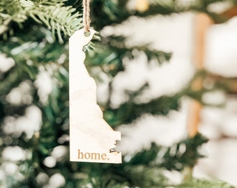 Delaware Home Ornament | Christmas Ornament | Delaware State | State Ornament