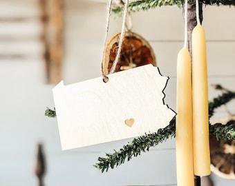 Pennsylvania Ornament | Wood Ornament | Pennsylvania State | State Ornament