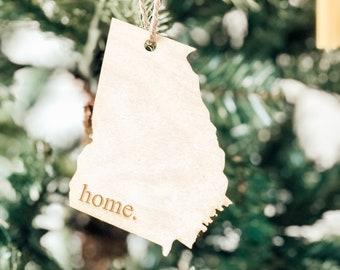 Georgia Home Ornament | Christmas Ornament | Georgia | State Ornament