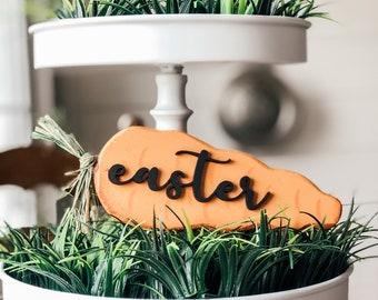Easter Sign | Easter Decor | Farmhouse Easter | Easter Tiered Tray Decor | Easter Carrot Sign | Easter