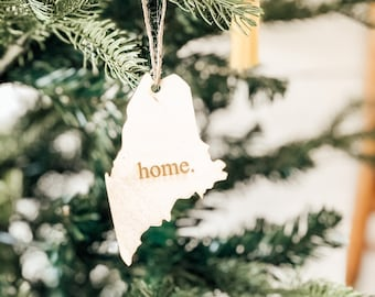Maine Home Ornament | Christmas Ornament | Maine State | State Ornament