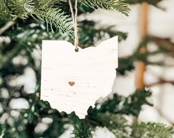 Ohio Ornament | Wood Ornament | Ohio State | State Ornament