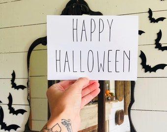 Happy Halloween Card | Simple Halloween Card | Farmhouse Halloween | Greeting Card | Halloween Card
