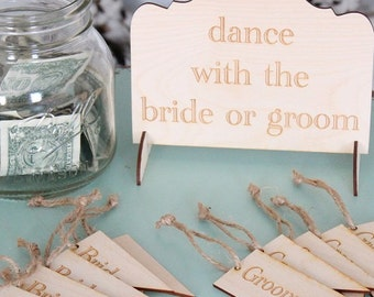 Dance With The Bride or Groom Wedding Game Set | Wedding Games