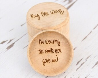 Love Quote Ring Box | Keepsake Ring Box | Engraved Ring Box | Ring Pillow Alternative | Free Shipping