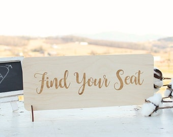 Find Your Seat Sign | Rustic Wedding | Wedding Seating Chart Sign | Free Shipping