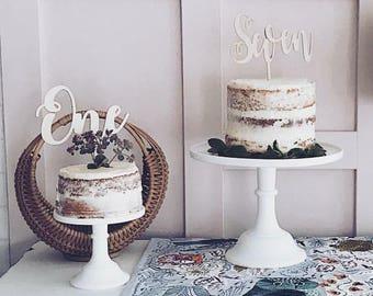 One Birthday Cake Topper Number Cake Topper Wood Cake Topper Birthday Cake Topper