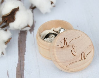 Wedding Ring Box | Engraved Ring Box | Ring Box With Initials | Free Shipping