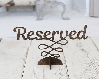 Reserved Sign | Reserved Table Sign | Rustic Wedding