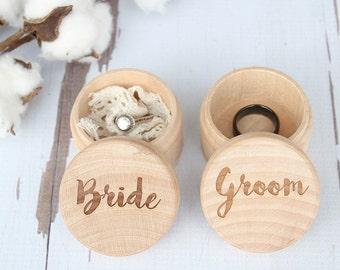 Wedding Ring Box Set | Bride and Groom Keepsake Ring Box | Engraved Rustic Wedding Ring Box | Free Shipping