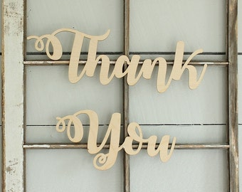 Thank You Sign | Wedding Thank You Sign | Wedding Photoprop Sign
