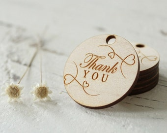 Thank You Tags | Wood Thank You Tags | Wedding Favor Tags