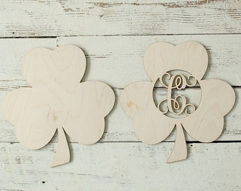 Shamrock Cutout | Wreath Making Supplies | Shamrock | Saint Patricks Day Sign | Door Hanger