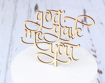 god gave me you Cake Topper | Wedding Cake Topper | Bridal Shower Cake Topper | Baby Shower Cake Topper | Free Shipping