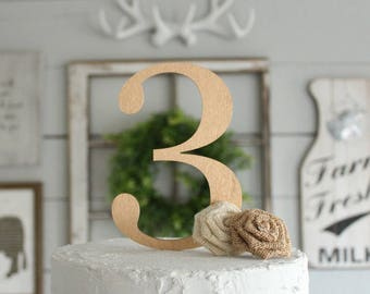 Number Cake Topper | Birthday Cake Topper | Wood Cake Topper | Birthday Cake Topper | Free Shipping