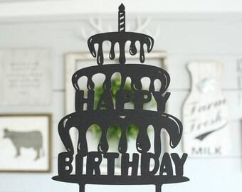 Happy Birthday Cake Topper | Birthday Cake Topper | Free Shipping