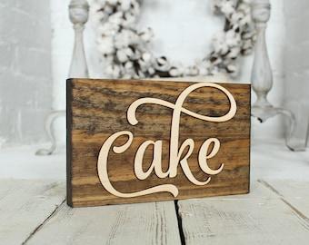 Cake Sign Rustic Wedding Cake Sign Wedding Cake Sign