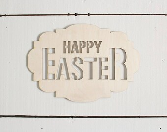 Happy Easter Sign | Easter Crafts | Wreath Supplies | Easter Decor
