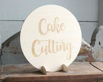 Cake Cutting Sign   Wedding Cake Sign   Wedding Cake Table   Wedding Sign   Rustic Wedding
