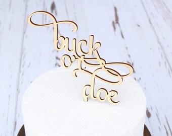 buck or doe Baby Shower Cake Topper | Gender Reveal Cake Topper | Free Shipping