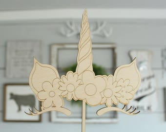 Unicorn Cake Topper |  Birthday Cake Topper | Unicorn Party | Free Shipping