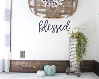 blessed Sign | Gallery Wall Sign | Farmhouse Gallery Wall | Blessed