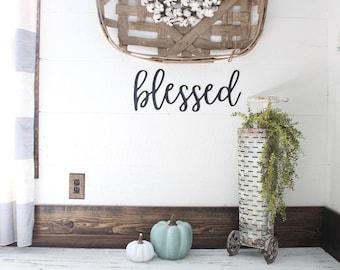Blessed Sign Farmhouse Decor