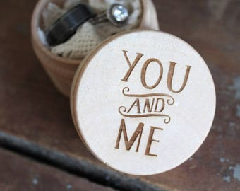 You and Me Engraved Wedding Ring Box | Free Shipping