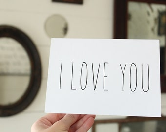 I Love You Card | Simple Greeting Card | Wedding Card | Greeting Card